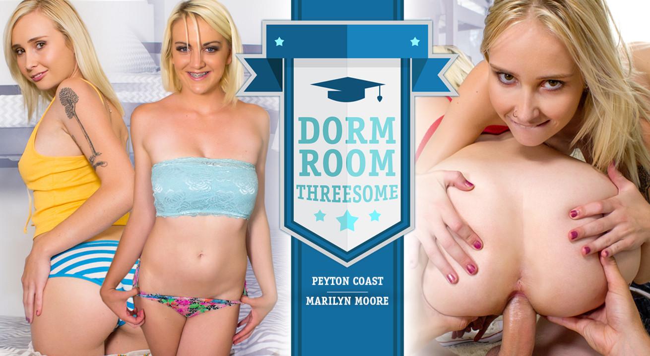 Dorm Room Threesome VR Porn